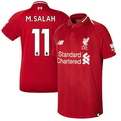 New Balance Liverpool  2018 - 2019 M. Salah # 11 Home Soccer Jersey Kids - Youth