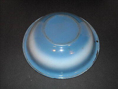 "Blended ""Bluebelle"" Blue & White Graniteware Wash Basin Enamel Ware - 11"" DIA."