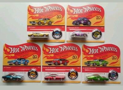 Hot Wheels 2018 50th Anniversary Redline Complete Set of 5 Unpunched