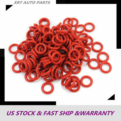 100pcs Silicone Rubber O-Ring 7-17mm Washer Seals Gasket 1.5mm Red