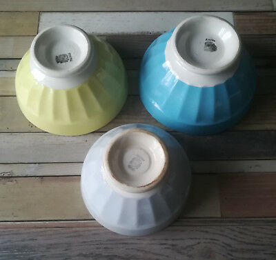 Lot De 3 Bols Anciens En Faience De Sarreguemines