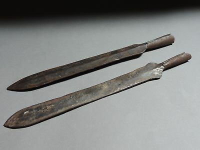 Lot of 2 Ancient Very Old Medieval Age Saxon Iron Spearhead Spear Head