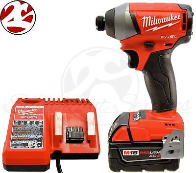 "Milwaukee 2753-22 M18 FUEL 18V Brushless 2753-20 1/4"" Impact Driver 5.0 Ah Kit c"