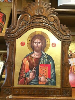 Jesus Christ Handmade Greek orthodox Russian byzantine icon