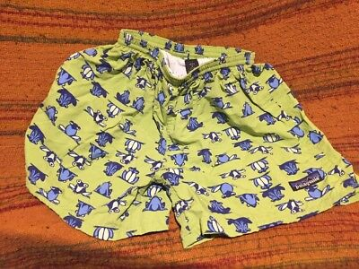 Patagonia Kids Boys Girls Small S 7–8 Bathing Suit Frogs Frog Green Blue A30