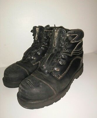 BLUNDSTONE Extreme SAFETY Boots Size 9.5 Steel Cap Boot Steel Toe Zip Fronts