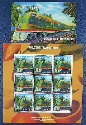 Tuvalu 2013 Eisenbahn Trains Railways Orange Blossom Special 1952 Block 205 MNH