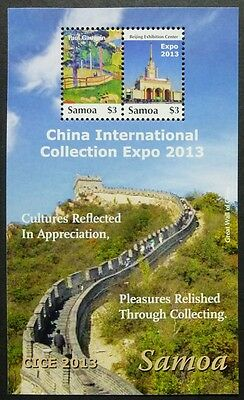 Samoa 2013 China Große Mauer Gemälde Gauguin Painting Great Wall Block 85 MNH