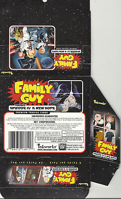 Star Wars Family Guy - EMPTY CARD BOX - NO PACKS - SHIPPED FLAT