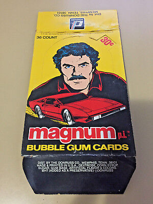 Magnum P.I - EMPTY CARD BOX - NO PACKS - SHIPPED FLAT - 1981 Donruss