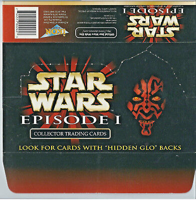 Star Wars Episode 1 - EMPTY CARD BOX - NO PACKS - SHIPPED FLAT - Ikon