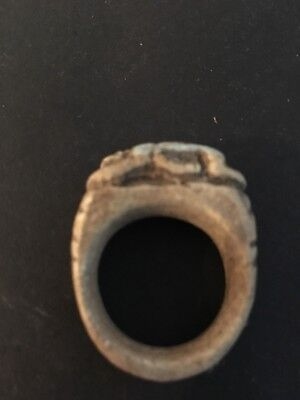 Rare Ancient Egyptian Amulet Ring T9 26th DYN 680 Bc