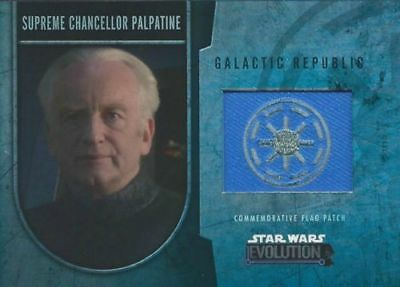 Star Wars Evolution - Commemorative Flag Patch Card /170 - Palpatine - NM