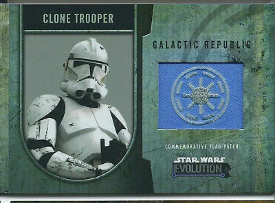 Star Wars Evolution - Commemorative Flag Patch Card /170 - Clone Trooper - NM