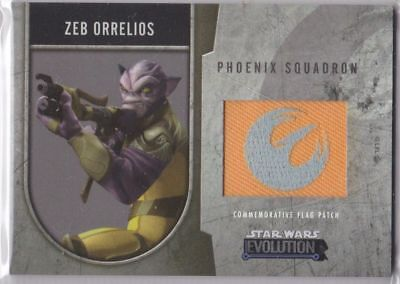 Star Wars Evolution - Commemorative Flag Patch Card /170 - Zeb Orrelios - NM