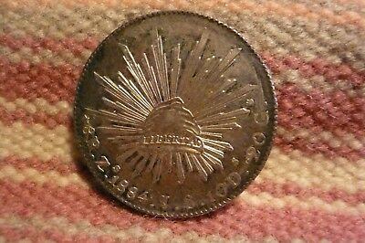 1884 Mexico 8 Reales Zs /J.S.