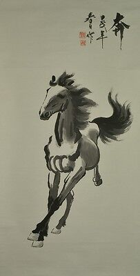 CHINESE PAINTING Hanging Scroll Horse OLD 馬 Asian ink ART China Picture Pic u89