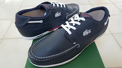 45db756d06712 Lacoste Dreyfus Men s Sport Casual Leather Boat SHOES Size US8 - US11 Blue