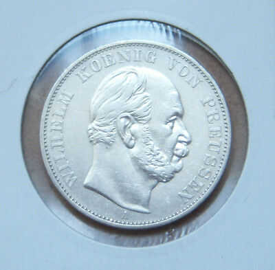 GERMAN THALER 1871 A PRUSSIA WILHELM I 90% Silver Victory France WWI Coin