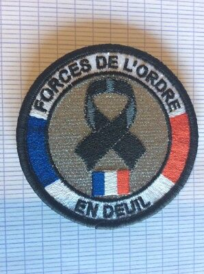 Ancien écusson patch collection a identifié police gendarmerie obselète