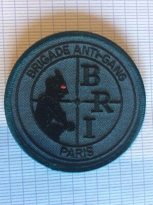 Ancien écusson patch collection a identifié police bri obsolète