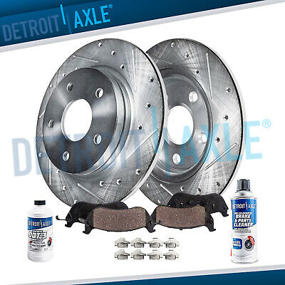Rear Drilled Brake Rotors & Ceramic Pads for 2008 2009 2010 - 2012 Camry Avalon