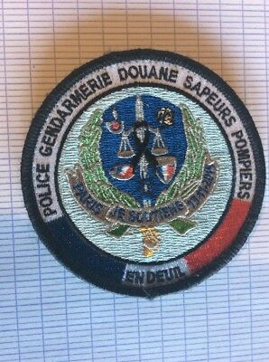 Ancien écusson patch collection a identifié police gendarmerie obselète commemo