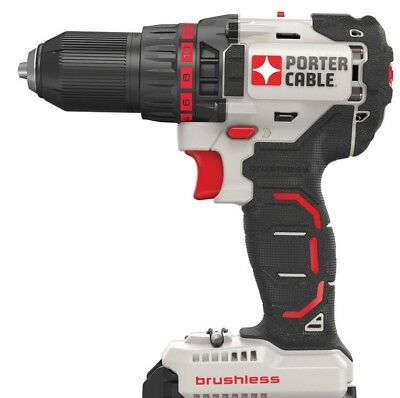 """New Porter Cable 20 Volt Max 1/2"""" Brushless Drill Driver (Tool Only) # PCC608"""