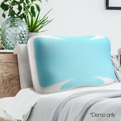 Giselle Bedding Cool Gel Memory Foam Contour Pillow Top Cooling High Density