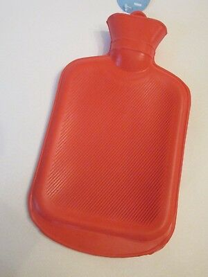 NEW Rubber HOT WATER BOTTLE Bag Warm, Hot, or Cold Therapy Red