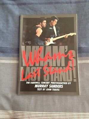 WHAM's LAST STAND photo book farewell concert photographed by Murray Sanders1986