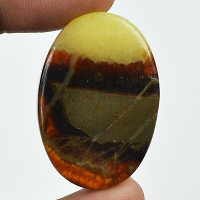 36ct Natural Best Grade Yellow Septarian Oval Cab From Madagascar EQ30