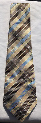 Blue & Brown Striped Giorgio Armani 100% Silk Tie *FREE UK DELIVERY* #137