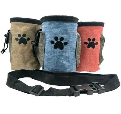 Pet Dog Training Pouch Walking Puppy Treat Snack Bag Dispenser with Clip Belt