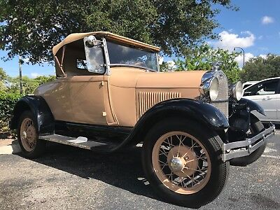 1928 Ford Model A Sport Coupe Roadster Convertible 1928 Ford Model A 40 A Sport Coupe Roadster Convertible