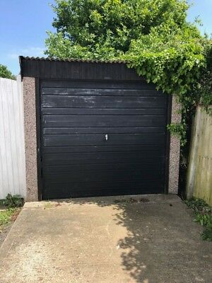 """Sectional Concrete Garage, Prefabricated, SS4 Essex. Erected 1980's. 17' x 8'6"""""""