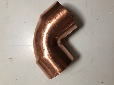 "2"" Close Street Elbow, 90 Degree Bend, Wrot Copper CxC"