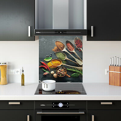 ANY SIZE Kitchen Splashback Toughened Glass Heat-R Cooking Herbs Spices 87648264