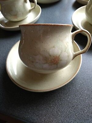 Denby Daybreak 4 teacups and 4 saucers