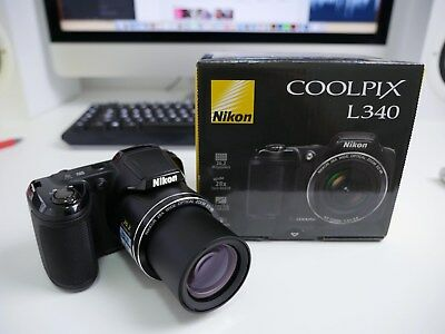 NIKON Coolpix L340 28x optical zoom telephoto lens 720p video  - new in OPEN box