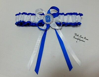 Dr Who DW bridal wedding garter. bride. tardis.dalek. time lord. Doctor Who