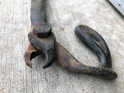 OLD VINTAGE GREENLEE # 515 NAIL PULLER Antique steampunk cast iron display wood