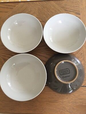 Denby Greystone Cereal Dishes X 6 - New