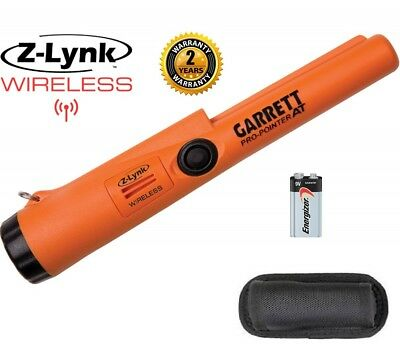 Garrett Pro Pointer AT Z-LYNK Waterproof Pinpointer with Battery and Holster