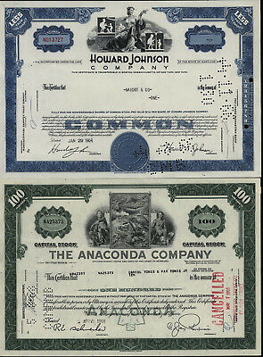 Howard Johnson Company 1964 The Anaconda Company 1968 less than 100 shares USA