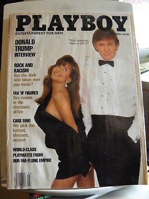 Playboy Magazine March 1990 Donald Trump Cover and Interview
