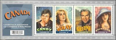 2006 Canada #2153 Mint Never Hinged Souvenir Sheet Canadians in Hollywood