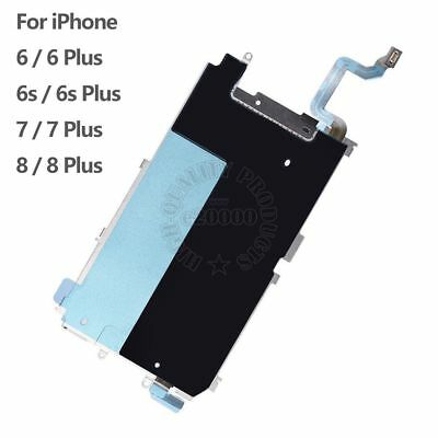 for iPhone 6 6s 7 8 Plus LCD Metal Shield Back Plate Heat Home Button Flex Cable