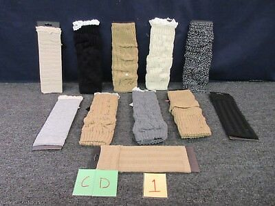 11 Joe Boxer Leg Warmer Woman Knit Large L Hosiery Brown Black Tan Gray Ladies