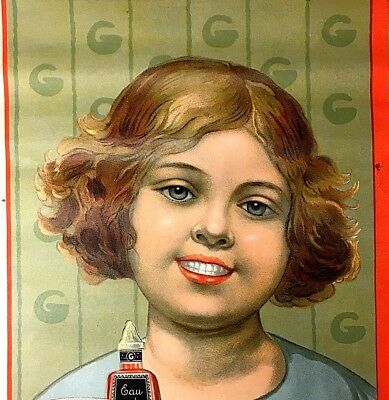 Gibbs Toothpaste Dental Office French Advertisement Sign, 1920s in Every Way!